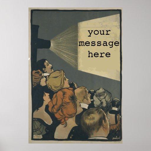 Cartaz cinematográfico do vintage pôsteres