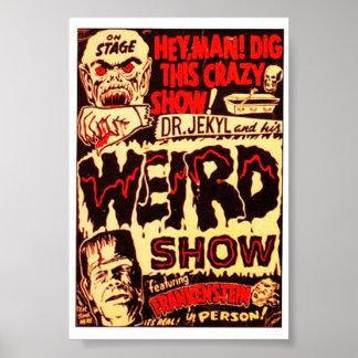 Cartaz cinematográfico estranho de Frankenstein Poster