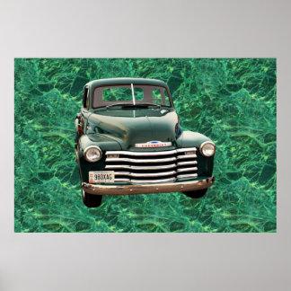 Cartaz clássico do carro poster