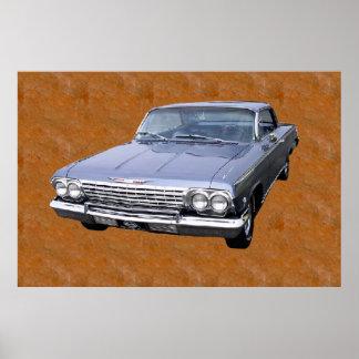 Cartaz clássico do carro impressão