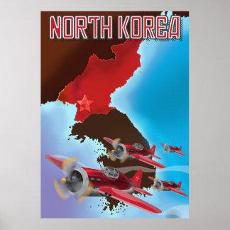 Cartaz das viagens vintage da Coreia do Norte Poster
