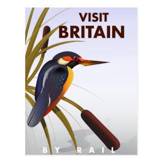 Cartaz das viagens vintage de Grâ Bretanha da Cartão Postal