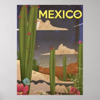 Cartaz das viagens vintage de México Poster