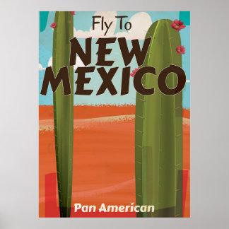Cartaz das viagens vintage de New mexico, EUA Poster