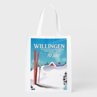 Cartaz do viagem do esqui de Willingen Sacolas Ecológicas