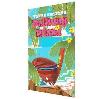 Cartaz do viagem do feriado da ilha de Belitung Impressão Em Tela
