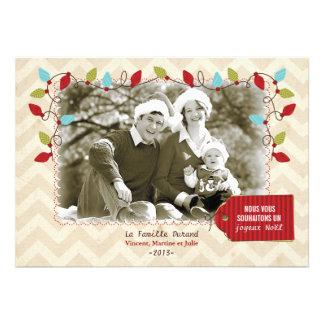 Carte photo de Noël Convite Personalizados