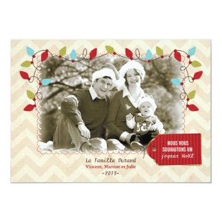 Carte photo de Noël Convite 12.7 X 17.78cm