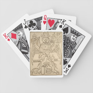 Cartões antigos do animal do texto baralhos para pôquer