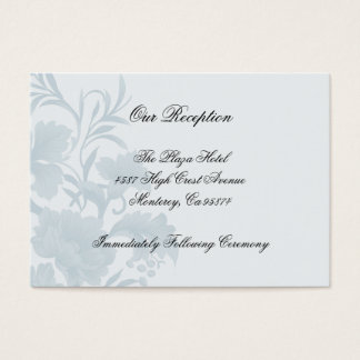Cartões azuis florais da inserção da recepção da