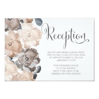 Cartões cinzentos da recepção de casamento dos convites personalizado