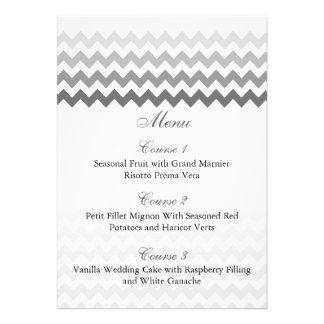 Cartões cinzentos do menu do casamento de Ombre da Convite