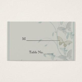 Cartões cinzentos e azuis do lugar do casamento do