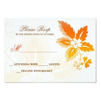 cartões clássicos do rsvp do casamento outono convite 8.89 x 12.7cm