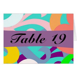 Cartões coloridos festivos da mesa do partido das