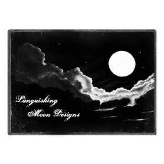 Cartões com fotos da Lua cheia Cartão De Visita Grande