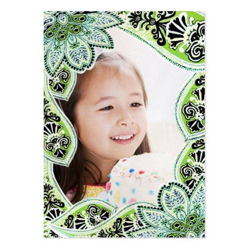 Cartões com fotos do aniversário das meninas cartão de visita