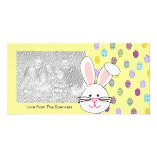 Cartões com fotos do coelhinho da Páscoa