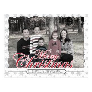 Cartões com fotos do costume do floco de neve do