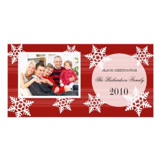 Cartões com fotos festivos da família do feriado