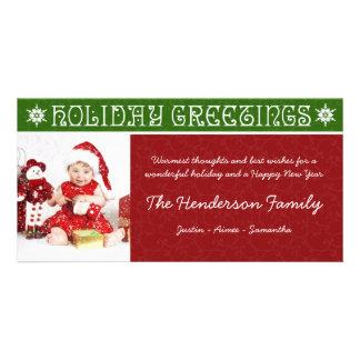 Cartões com fotos festivos do feriado do Natal