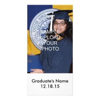 Cartões com fotos personalizados da graduação da