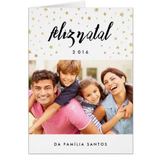 Cartões comemorativos | feliz natal estrelas