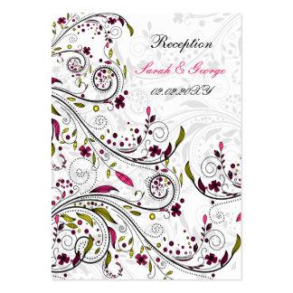 cartões cor-de-rosa da recepção de casamento