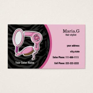 Cartões cor-de-rosa do cabeleireiro com da