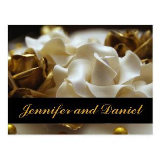 Cartões cor-de-rosa do convite do casamento do cartão postal