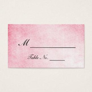 Cartões cor-de-rosa do lugar do casamento da