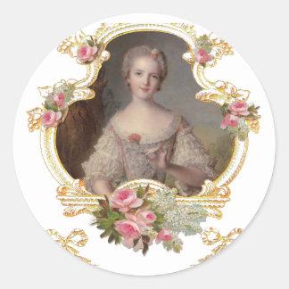 Cartões cor-de-rosa novos dos rosas da rainha adesivo