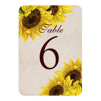 Cartões customizáveis do número da mesa do