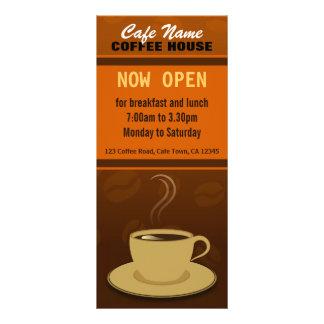 Cartões da cremalheira do café do copo de café da 10.16 x 22.86cm panfleto