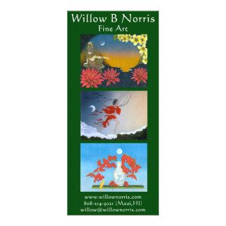 Cartões da cremalheira do salgueiro 10.16 x 22.86cm panfleto