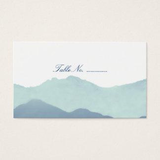 Cartões da escolta da mesa do convidado da