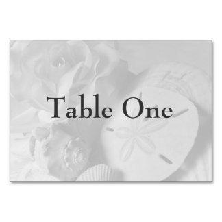 Cartões da mesa do Seashell