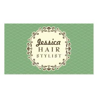 Cartões da nomeação do cabeleireiro do teste padrã cartão de visita