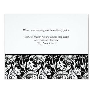 Cartões da recepção do modelo convite personalizados