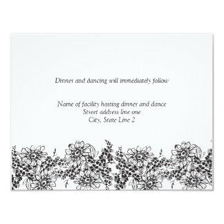 Cartões da recepção para convites Wedding