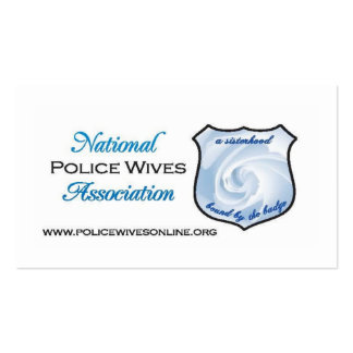 Cartões da referência da associação das esposas da cartao de visita