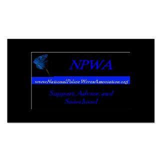 Cartões da referência da associação das esposas da modelo cartões de visita