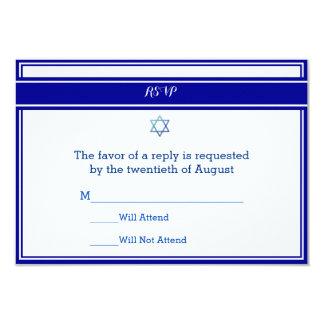Cartões da resposta de Mitzvah do bar Convite 8.89 X 12.7cm