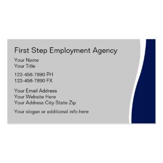 Cartões de actividade de intermediário do emprego modelos cartões de visita