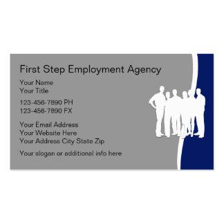 Cartões de actividade de intermediário do emprego cartão de visita