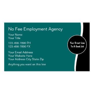 Cartões de actividade de intermediário do emprego cartao de visita