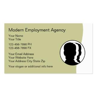 Cartões de actividade de intermediário do emprego modelo cartoes de visitas