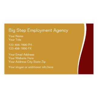 Cartões de actividade de intermediário do emprego cartões de visitas