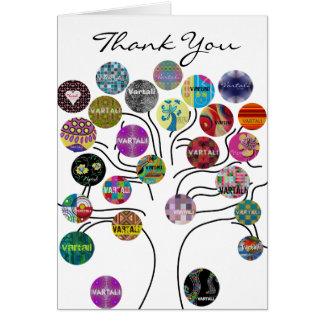 Cartões de agradecimentos 3 de Vartali