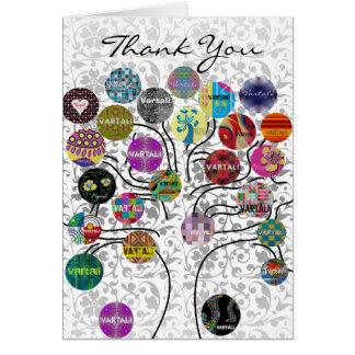 Cartões de agradecimentos 5 de Vartali